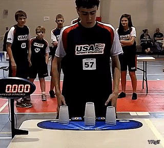 Мировой рекорд Рекорд, Стакан, Соревнования, Рукоблудие, 5 секунд, Гифка