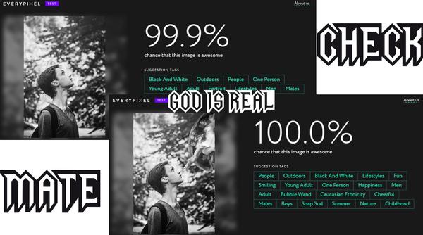 Нейросеть считает, что с богом фотокарточка на 0,01% лучше! Шах и мат, Атеизм, Религия, Нейронные сети, Фотография, Интернет, Бог есть, Доказательство