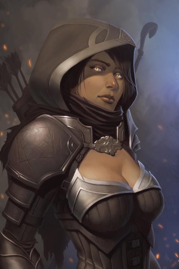 Охотница на демонов Арт, Diablo, Diablo III, Demon hunter