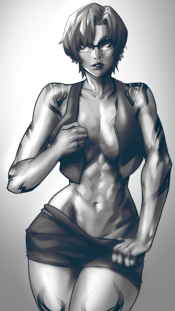 Nassandra EymBee, арт, крепкая девушка