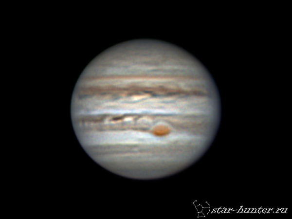 Юпитер, 19 марта 2017 года, 00:14. Юпитер, астрофото, астрономия, космос, планета, starhunter, КраснодарБалкон, гифка, длиннопост