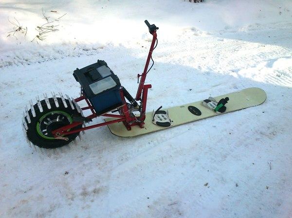 Электросноуборд ручная работа, handmade, электро, сноуборд, видео, длиннопост
