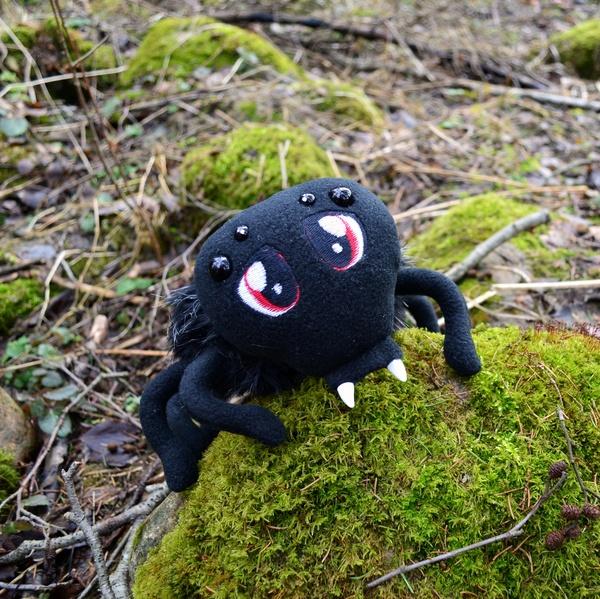 Мягкий паучок Морико (Дитя Леса) паук, ручная работа, мягкая игрушка, вышивка, шитье, длиннопост