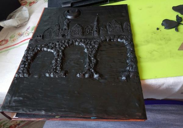 Новая работа с полимерной глиной. Полимерная глина, Обложка, Хроники Ехо, Подарок, Длиннопост
