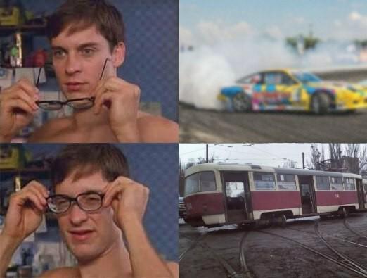 Токийский дрифт или трамваи тоже могут Трамвай, Дрифт, Харьков