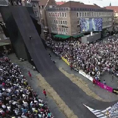 Красивый трюк Велосипед, Трюк, Сальто, slow motion, гифка