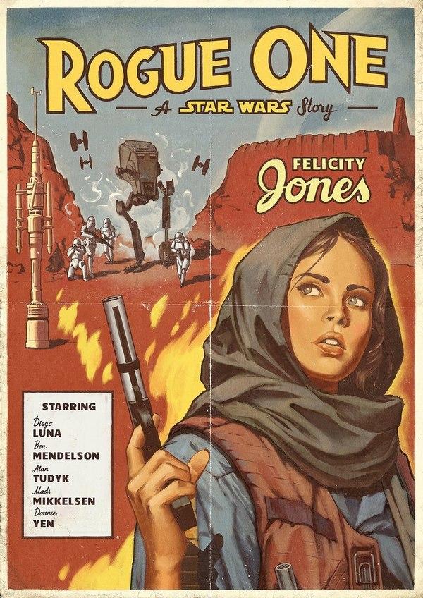 Олдскульные постеры «Изгоя-один» от минского художника арт, star wars, постер, Изгой-Один, длиннопост