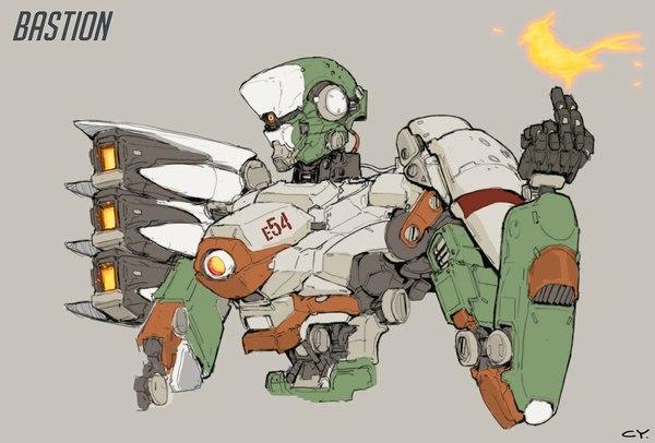 Тайваньский художник Ching Yeh, нарисовал героев Overwatch в стиле Cyberpunk overwatch, Sci-Fi, Reinhard, Genji, bastion, Soldier 76, Hanzo, киберпанк, длиннопост