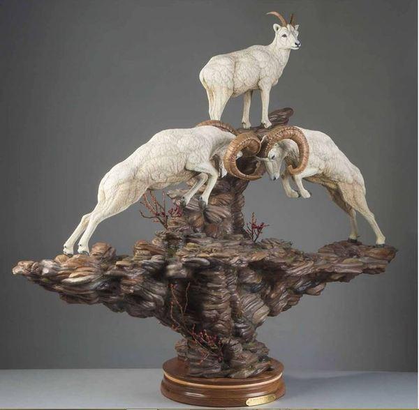 Резьба по дереву ремесло, животные, резьба по дереву, длиннопост, козел, баран