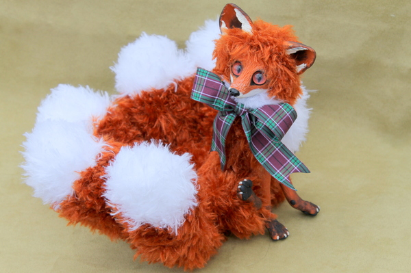 Лисичка-кицунэ для пикабушника лиса, кицунэ, ручная работа, длиннопост