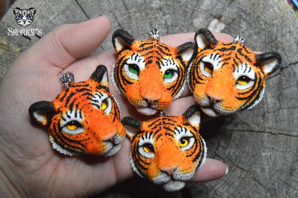 Еще немного моих зверей) Ручная работа из полимерной глины. полимерная глина, ручная работа, мопс, сова, тигр, олень, лиса, ленивец, длиннопост