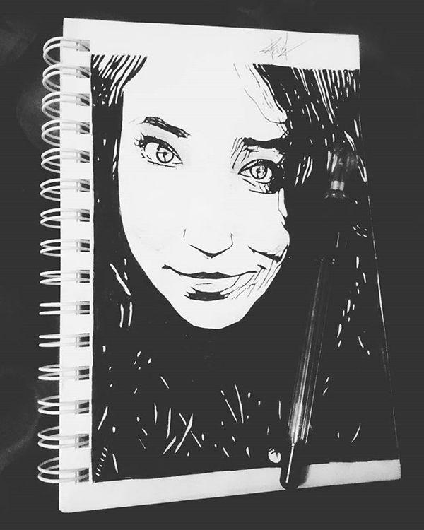 Портрет подруги. Портрет, Рисунок, Арт, Рисованные друзья, Творчество, Девушки, FaoilthiArt