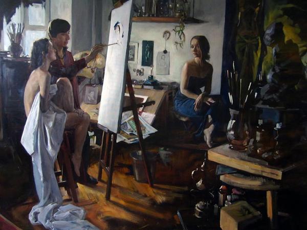 """""""Вдохновение"""" На данный момент самая большая моя картина 2-2,5 метра Gnievyshev, творчество, арт, Живопись, длиннопост"""