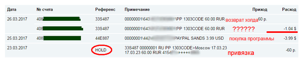 Особенность работы банка при привязке карты к разным счетам. Будьте осторожны! АльфаБанк, Карты, Счет, Доллар, Рубль, PayPal, Hold, Банк