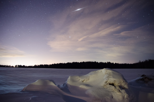 Вспышка Иридиума Небо, космос, Вспышка иридиума, фотография, астрофото