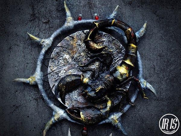 Скульптурный ловец Скорпион моё, скорпион, ловец снов, творчество, рукоделие, handmade, скульптура, ручная работа, длиннопост