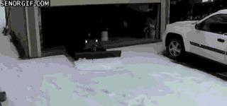 Уборка снега не выходя из дома