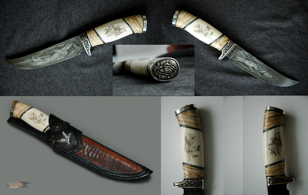 Ножи и художественное травление нож, handmade, Художник, Коллекция, охота, длиннопост
