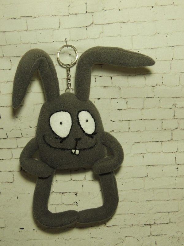 Зайчик Бо. Брелок. Заяц, handmade, рукоделие, шитье, брелок, длиннопост