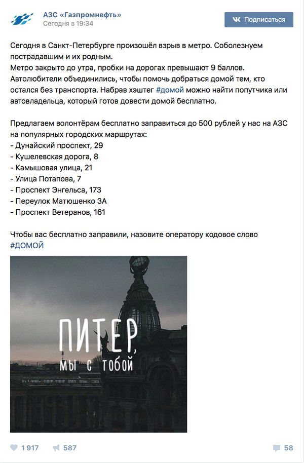 АЗС в Санкт-Петербурге