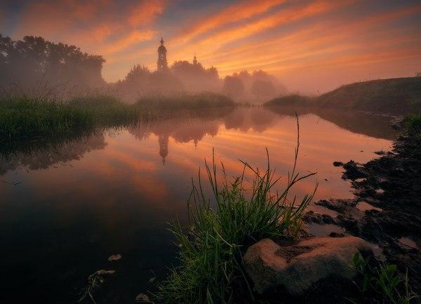 Владимирская область село, лето, дымка, зелень, фотография, Природа, пейзаж, владимирская область, длиннопост