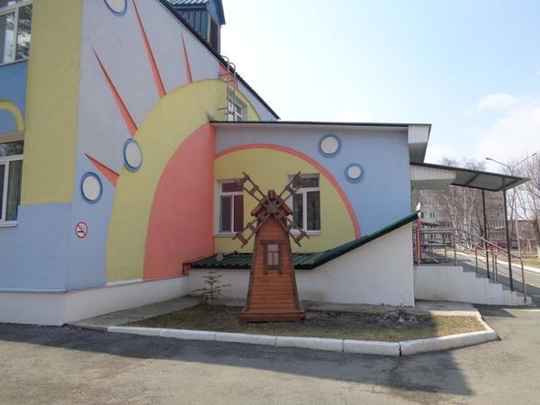 Площадка в детском саду, город Артём, Приморский край детская площадка, красота, горка, лукоморье, длиннопост