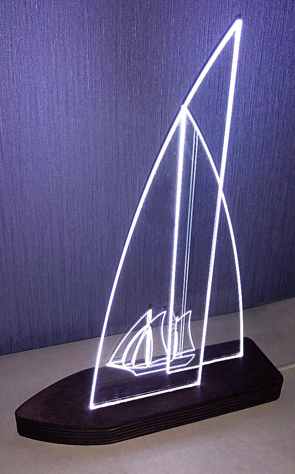 Светящиеся паруса светильник, Парусник, Светодиоды, рукодельники, ЧПУ, ночник, Настольная лампа, длиннопост