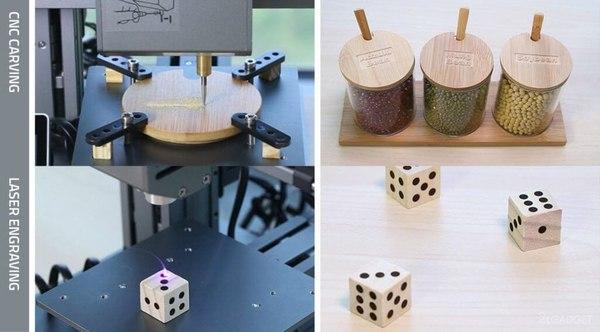 Недорогой 3D-принтер с дополнительными возможностями 3d печать, принтер, печать, kickstarter, технологии, видео, длиннопост