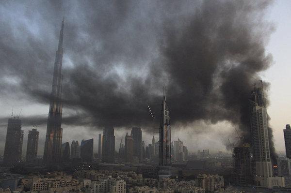 Пожар в Дубае 02.04 новости, Дубай, ОАЭ, пожар, огонь, небоскреб, длиннопост