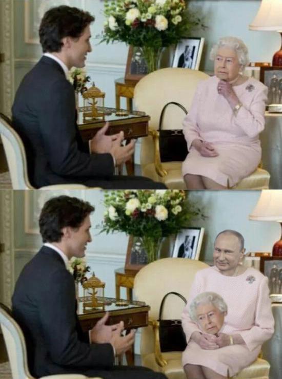 А под масочкой у нас... Елизавета II, Политика, Путин, ВВП России, Photoshop