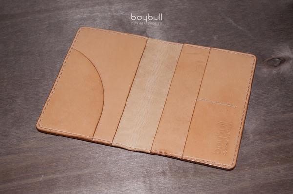 Обложка для паспорта, автодокументов, карт. Натуральная кожа, 2 слоя. Сшивается вручную. Обложка, Кожа, Красная кожа