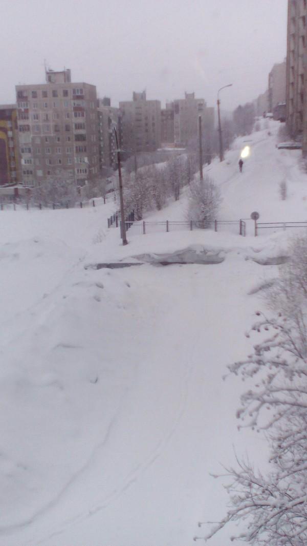 Мурманск в снегу
