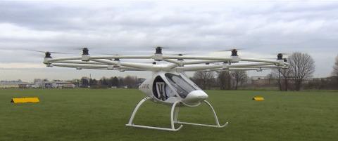 E-volo представила серийный пассажирский 18-роторный дрон Volocopter 2X Наука, Новости, Дрон, Мультикоптер, Гифка