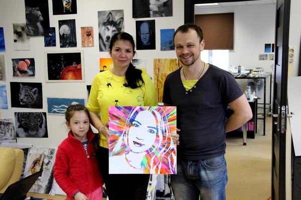 Результаты мастер-класса по рисованию портрета Флип-флоп! флип-флоп, Портрет, картина, НЕ аэрография, art39inc