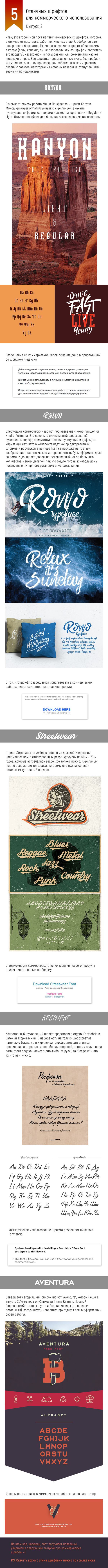 5 отличных шрифтов для коммерческого использования (2) Длиннопост, Шрифт, Дизайн, Лицензия
