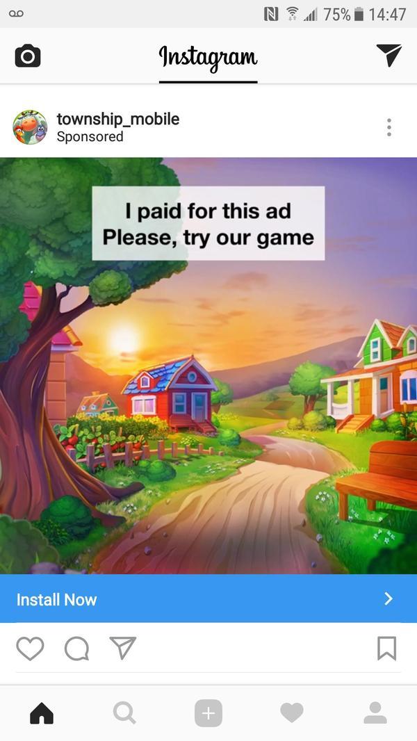 Мобильная разработка чахнет Мобильные игры, Instagram, Креатив, Реклама