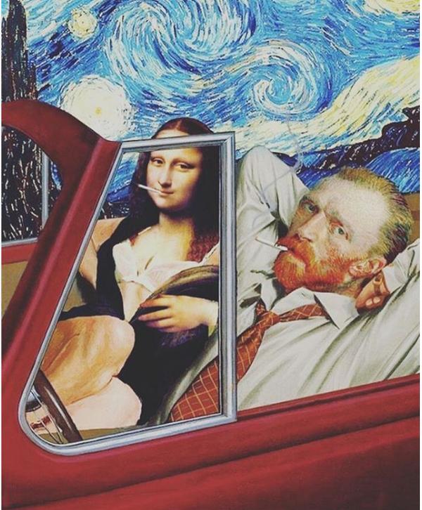 Страх и ненависть Ван Гога ван гог, мона лиза, арт, микс, психоделия, Лас-Вегас, страх, Photoshop