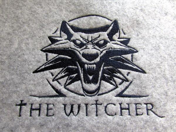 Лого Ведьмак Ведьмак, The Withcher, Нашивка, Фетр, Рукоделие, Вышивка, Компьютерная вышивка, Длиннопост