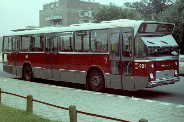 1970 год. Первый шведский низкопольный автобус Volvo B59