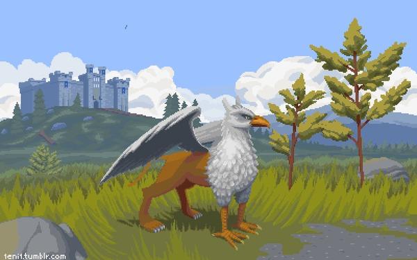 Heroes 3 Castle Pixel Art, Герои меча и магии 3, HOMM III, Гифка, Моё
