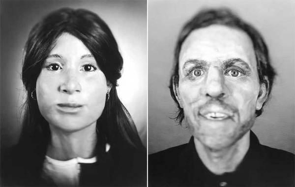 Фотограф снимает реконструированные лица неопознанных жертв убийств Длиннопост, Судмедэксперт, Убийство, Расследование, Череп, Личность