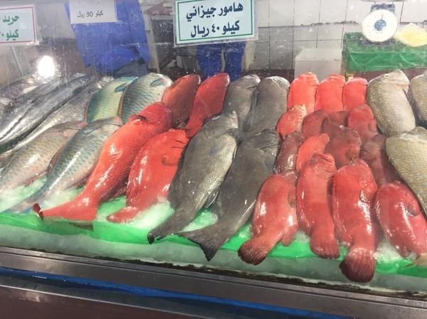 Рыбный рынок, Красное море, Саудовская Аравия Рыба, Морепродукты, Красное море, Длиннопост
