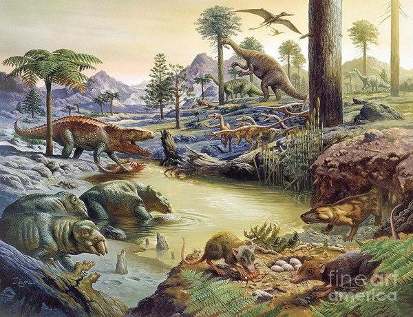Как выглядела Земля 250 млн лет назад Палеонтология, Палеоботаника, Палеоклиматология, Триасовый период, Длиннопост
