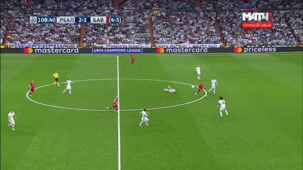 Марсело против Баварии Футбол, Лига чемпионов, Реал Мадрид, Марсело, Дриблинг, Гифка