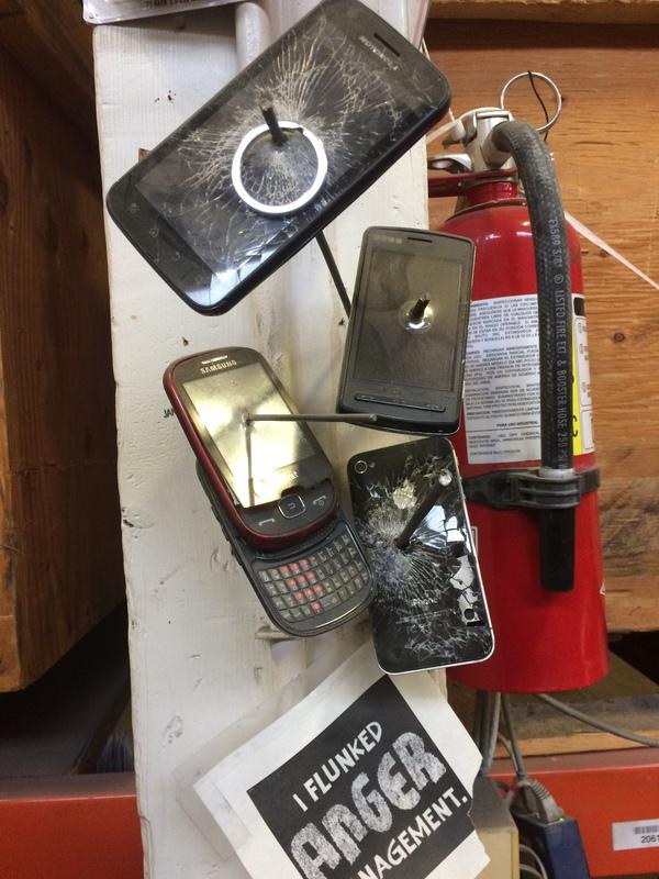 """Я завалил """"Управление гневом"""" телефон, гнев, работа, коллекция, сарказм"""
