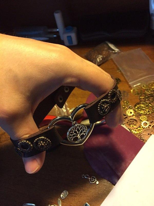 Чокеры с элементами стимпанк стиля крафт, кожа, Чокер, стимпанк, Кривые руки, шестеренки, длиннопост