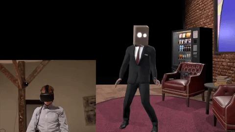 Виртуальная студия и захват движения используя Htc Vive Виртуальная реальность, Длиннопост, Подарки, Гифка