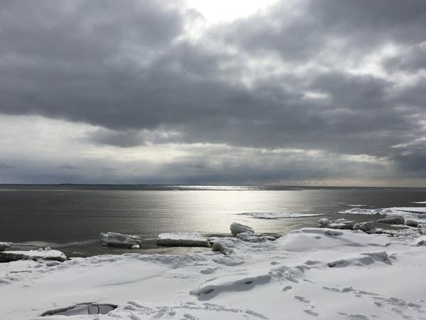 Красивый вид на финский залив. Скоро весна, скоро...