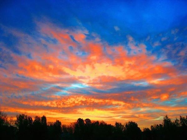 Закат в Калуге 16.04.2017. Фотография, Природа, Закат, Просто красивое фото, Вечер, Фото на тапок