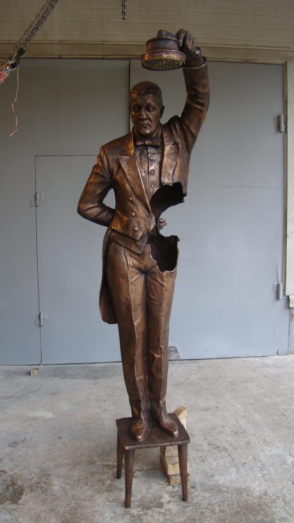 """Дворецкий"". От пластилина до бронзы. Владимир Курочкин, скульптура, Дживс и Вустер, Стивен Фрай, статуя, длиннопост"